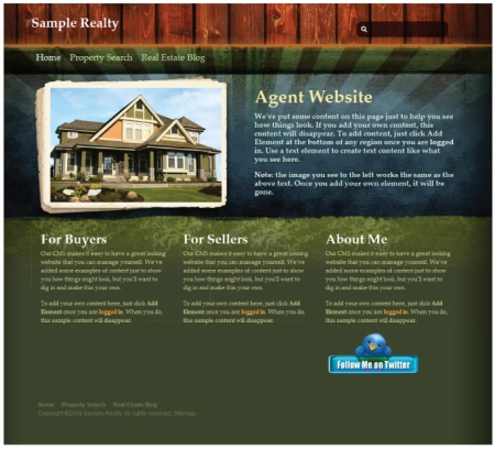 Agent Website Sample 1
